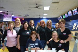 Team Steel Magnolias participated and helped sponsor Bowl for Mercy
