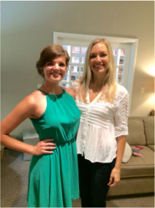 Mercy resident Mary Catherine and graduate Brittney presented at St. Louis luncheon.