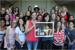 Nashville Mercy residents celebrating with Battistelli her recent chart-topping achievement.