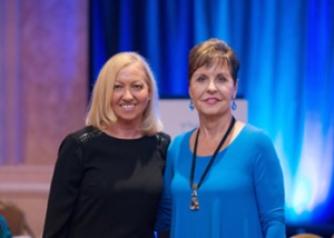 Nancy Alcorn with Joyce Meyer at Mercy St. Louis 10 Year Anniversary