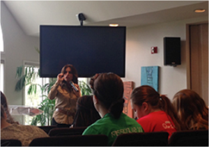 Lisa Bevere wove personal stories with Biblical truth as she taught the Nashville Mercy residents.