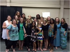 Monroe Mercy residents with worship leader Cindy Cruse-Ratcliff (front left) at VIP Conference in Shreveport, LA