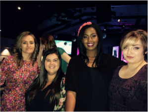 Monroe Mercy residents at VIP Conference (l to r): Makayla, Hope, Tamera, and Amy