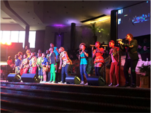 The Watoto Children's Choir performing at Christ Church on Sunday